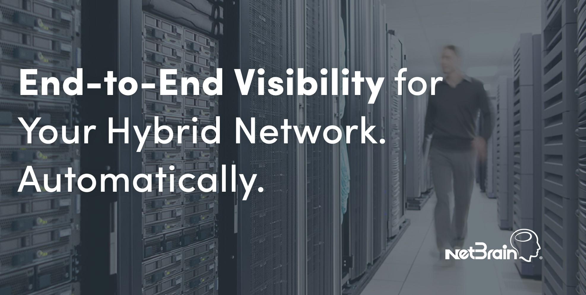 NetBrain Hybrid Network Visability
