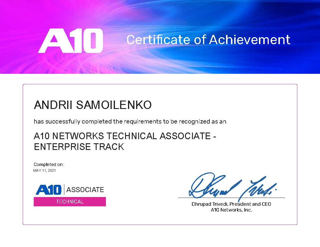 Technical Associate - Enterprise Track