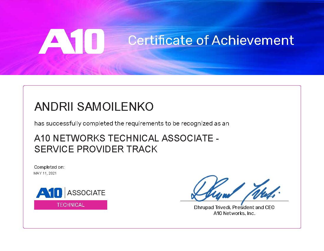 Technical Associate - Service Provider Track